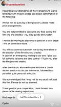 'No eating, no drinking and no queuing for popcorn': Girlfriend shares her boyfriend's VERY strict rules for their Avengers: Endgame cinema trip - as fans praise his commitment to the film